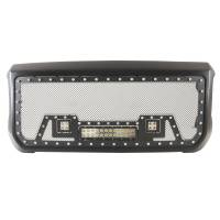 Paramount - Black Evolution Stainless Steel Wire Mesh Packaged Grille w/ LED #48-0852 - Image 2