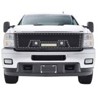 Paramount - Black Evolution Stainless Steel Wire Mesh Packaged Grille w/ LED #48-0835 - Image 1