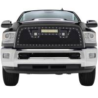 Paramount - Black Evolution Stainless Steel Wire Mesh Packaged Grille w/ LED #48-0848 - Image 1