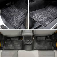 Paramount - 3PCS 4 Door Front and Rear Floor Liners (Black) #59-1127 - Image 3