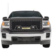 Paramount - Black Evolution Stainless Steel Wire Mesh Packaged Grille w/ LED #48-0851 - Image 1