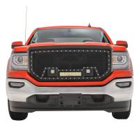 Paramount - Black Evolution Stainless Steel Wire Mesh Packaged Grille w/ LED #48-0857 - Image 1
