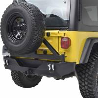 Paramount - Heavy Duty Rock Crawler Rear Bumper w/ Tire Carrier Black #51-0015 - Image 3