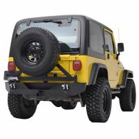 Paramount - Heavy Duty Rock Crawler Rear Bumper w/ Tire Carrier Black #51-0015 - Image 4