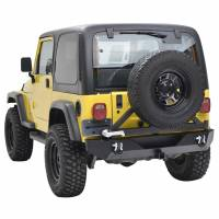 Paramount - Heavy Duty Rock Crawler Rear Bumper w/ Tire Carrier Black #51-0015 - Image 6