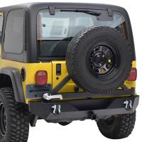 Paramount - Heavy Duty Rock Crawler Rear Bumper w/ Tire Carrier Black #51-0015 - Image 8