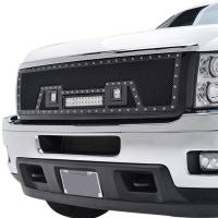 Paramount - Black Evolution Stainless Steel Wire Mesh Packaged Grille w/ LED #48-0835 - Image 3