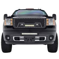 Paramount - Black Evolution Stainless Steel Wire Mesh Packaged Grille w/ LED #48-0842 - Image 1