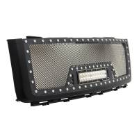 Paramount - Black Evolution Stainless Steel Wire Mesh Packaged Grille w/ LED #48-0832 - Image 4