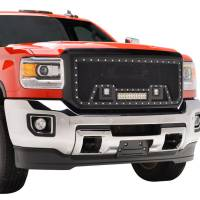 Paramount - Black Evolution Stainless Steel Wire Mesh Packaged Grille w/ LED #48-0852 - Image 9