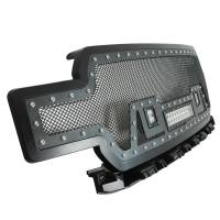 Paramount - Evolution All Matte Black Stainless Steel Wire Mesh Packaged Grille With Three LED lights #48-0859 - Image 4