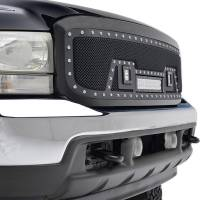 Paramount - 99-04 Ford SuperDuty F-250,350,450,550 Evolution Matte Black Stainless Steel Grille - Image 7