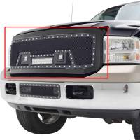 Paramount - 05-07 Ford SuperDuty F-250,350,450,550 Evolution Matte Black Stainless Steel Grille - Image 3
