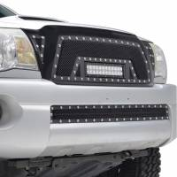 Paramount - 05-11 Toyota Tacoma Evolution Matte Black Stainless Steel Grille - Image 7