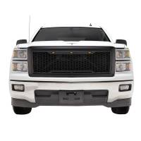 Paramount - 14-15 Chevy Silverado 1500 Matte Black ABS LED Impulse Mesh Grille - Image 1