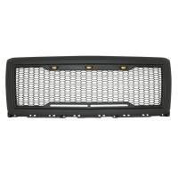 Paramount - 14-15 Chevy Silverado 1500 Matte Black ABS LED Impulse Mesh Grille - Image 2
