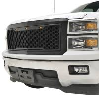 Paramount - 14-15 Chevy Silverado 1500 Matte Black ABS LED Impulse Mesh Grille - Image 3