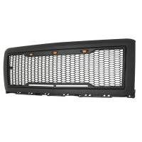 Paramount - 14-15 Chevy Silverado 1500 Matte Black ABS LED Impulse Mesh Grille - Image 5