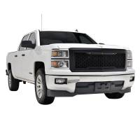 Paramount - 14-15 Chevy Silverado 1500 Matte Black ABS LED Impulse Mesh Grille - Image 7