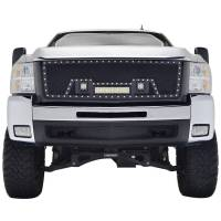 Paramount - 07-10 Chevy Silverado 2500HD/3500HD Evolution Matte Black Stainless Steel Grille - Image 1