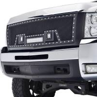 Paramount - 07-10 Chevy Silverado 2500HD/3500HD Evolution Matte Black Stainless Steel Grille - Image 3