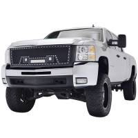Paramount - 07-10 Chevy Silverado 2500HD/3500HD Evolution Matte Black Stainless Steel Grille - Image 4