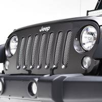 Paramount - 07-18 Jeep Wrangler JK Chrome Stainless Steel Wire Mesh Grille Insert - Image 3