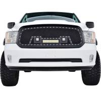 Paramount - 13-18 Dodge Ram 1500 Evolution Matte Black Stainless Steel Grille - Image 1