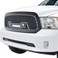 Paramount - 13-18 Dodge Ram 1500 Evolution Matte Black Stainless Steel Grille - Image 3