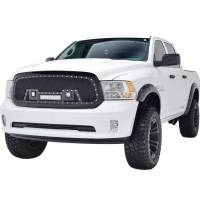 Paramount - 13-18 Dodge Ram 1500 Evolution Matte Black Stainless Steel Grille - Image 4