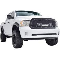 Paramount - 13-18 Dodge Ram 1500 Evolution Matte Black Stainless Steel Grille - Image 7