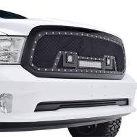 Paramount - 13-18 Dodge Ram 1500 Evolution Matte Black Stainless Steel Grille - Image 9