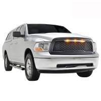 Paramount - 09-12 Dodge Ram 1500 Matte Black ABS LED Impulse Mesh Grille - Image 7