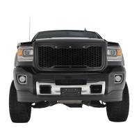 Paramount - 15-19 GMC Sierra 2500/3500 Matte Black ABS LED Impulse Mesh Grille - Image 1