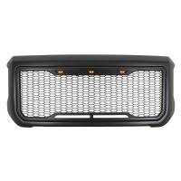 Paramount - 15-19 GMC Sierra 2500/3500 Matte Black ABS LED Impulse Mesh Grille - Image 2