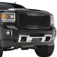 Paramount - 15-19 GMC Sierra 2500/3500 Matte Black ABS LED Impulse Mesh Grille - Image 7