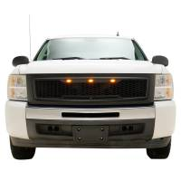 Paramount - 07-13 Chevy Silverado 1500 Matte Black ABS LED Impulse Mesh Grille - Image 1