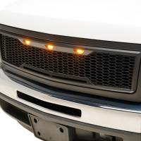 Paramount - 07-13 Chevy Silverado 1500 Matte Black ABS LED Impulse Mesh Grille - Image 2