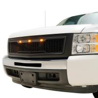 Paramount - 07-13 Chevy Silverado 1500 Matte Black ABS LED Impulse Mesh Grille - Image 3