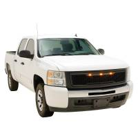 Paramount - 07-13 Chevy Silverado 1500 Matte Black ABS LED Impulse Mesh Grille - Image 5