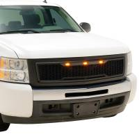 Paramount - 07-13 Chevy Silverado 1500 Matte Black ABS LED Impulse Mesh Grille - Image 6