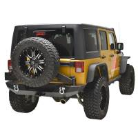 Paramount - 07-18 Jeep Wrangler JK Body Width Rear Bumper with Tailgate Tire Carrier - Image 6