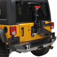 Paramount - 07-18 Jeep Wrangler JK Body Width Rear Bumper with Tailgate Tire Carrier - Image 14