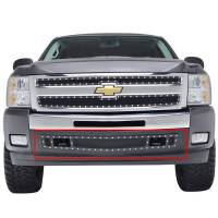 Paramount - 07-13 Chevy Silverado 1500 Bumper Evolution Black Stainless Steel Overlay Grille - Image 1