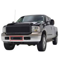 Paramount - 05-07 Ford SuperDuty/Excursion Bumper Evolution Black Stainless Steel Overlay Grille - Image 4