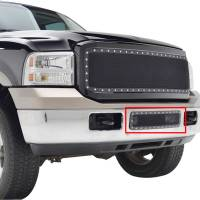 Paramount - 05-07 Ford SuperDuty/Excursion Bumper Evolution Black Stainless Steel Overlay Grille - Image 8