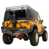 Paramount - 07-18 Jeep Wrangler JK Full-Width Rear Bumper with SureGrip Tire Carrier - Image 4