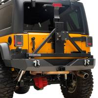 Paramount - 07-18 Jeep Wrangler JK Full-Width Rear Bumper with SureGrip Tire Carrier - Image 9