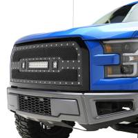 Paramount - 15-17 Ford F-150 Evolution Matte Black Stainless Steel Grille - Image 4