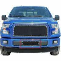 Paramount - 15-19 Ford F150 Evolution Black Stainless Steel Bumper Overlay Grille - Image 6